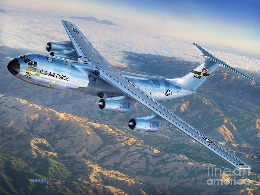 C-141 Starlifter The Golden Bear Digital Art