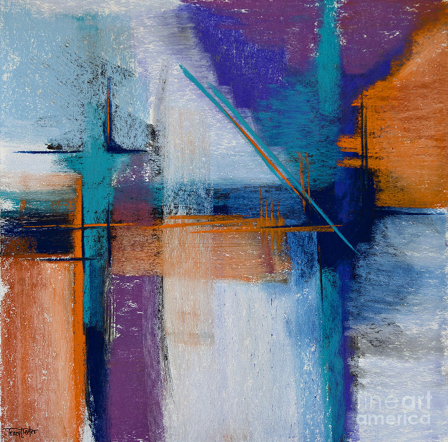 Abstract Pastel - Drilling Boom by Tracy L Teeter