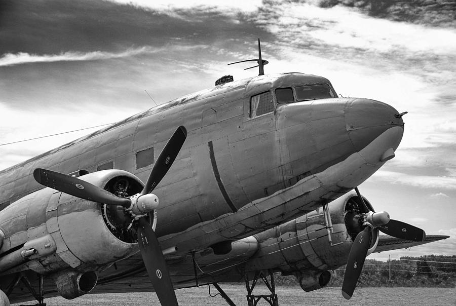 Aviation Photograph - C-47 Skytrain by Guy Whiteley