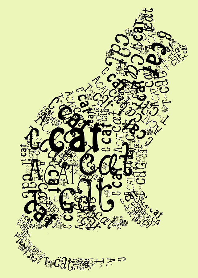 C Is For Cat Digital Art - C Is For Cat by Heather Applegate