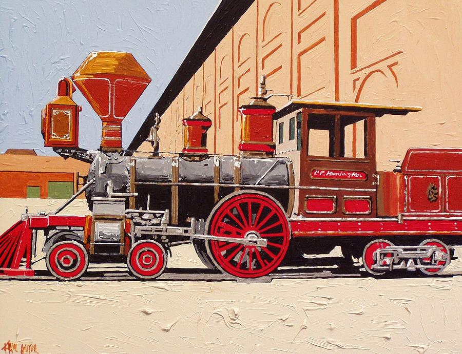 Sacramento Painting - C P Huntington by Paul Guyer