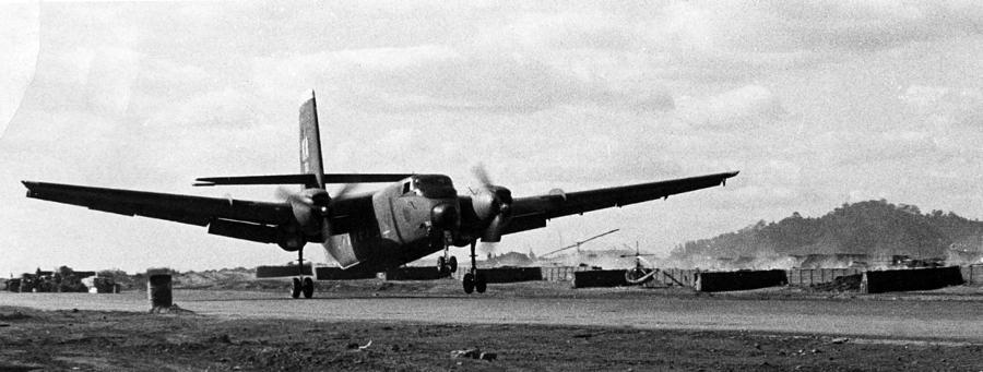 Dak To Photograph - C-7A Caribou by Norman Johnson