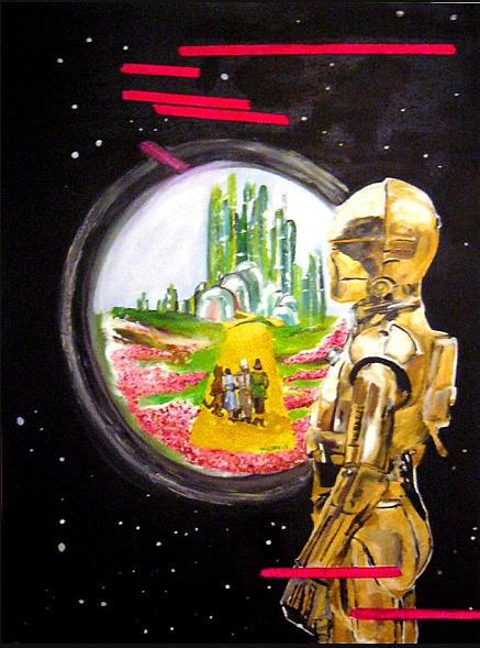 Star Wars Painting - C3p0 Dream by Valery Latulippe