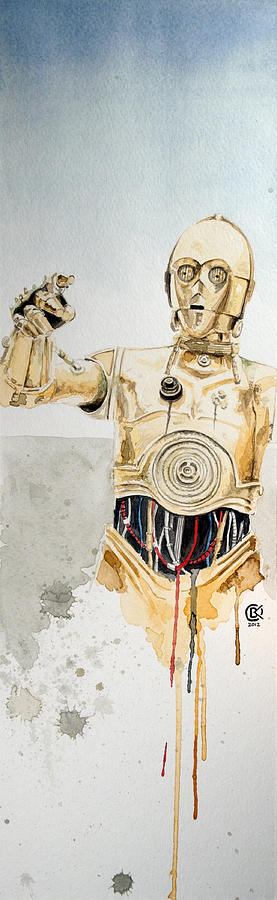 Star Wars Painting - C3po by David Kraig