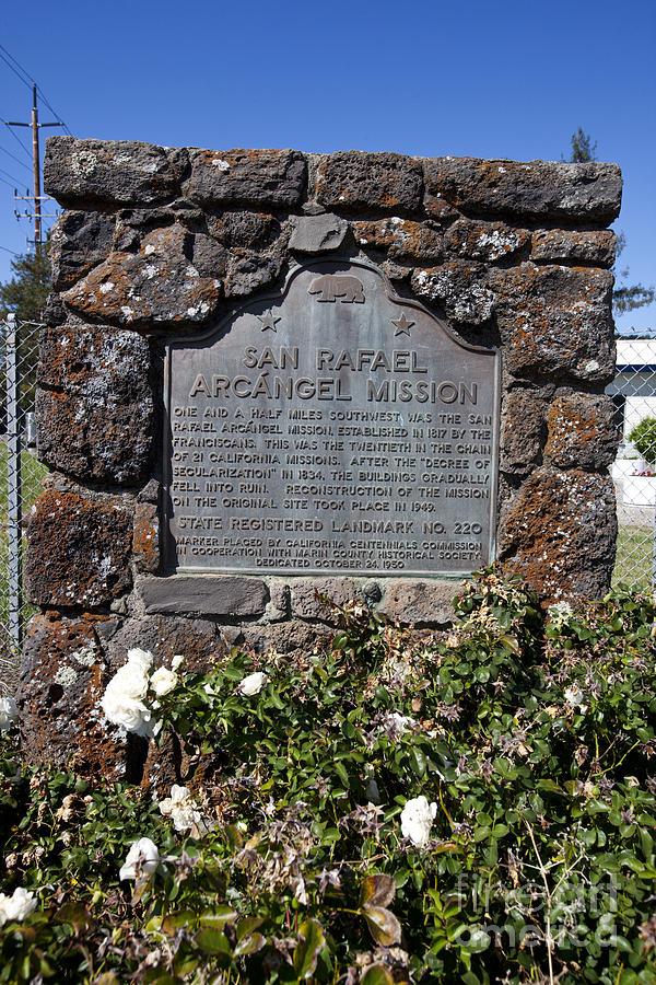 Travel Photograph - Ca-220 San Rafael Arcangel Mission by Jason O Watson
