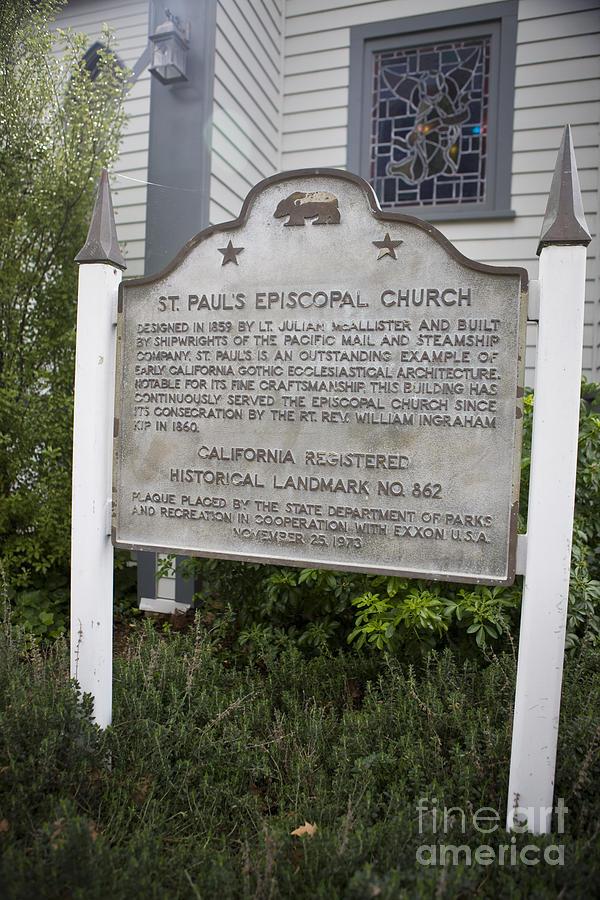Ca-862 St. Pauls Episcopal Church Photograph