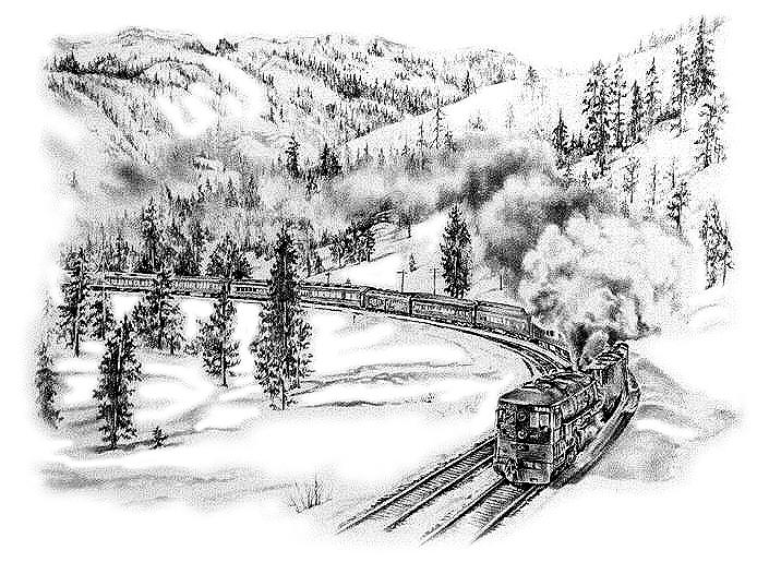 Cab Forward On Stanford Curve Drawing by Jonni Hill