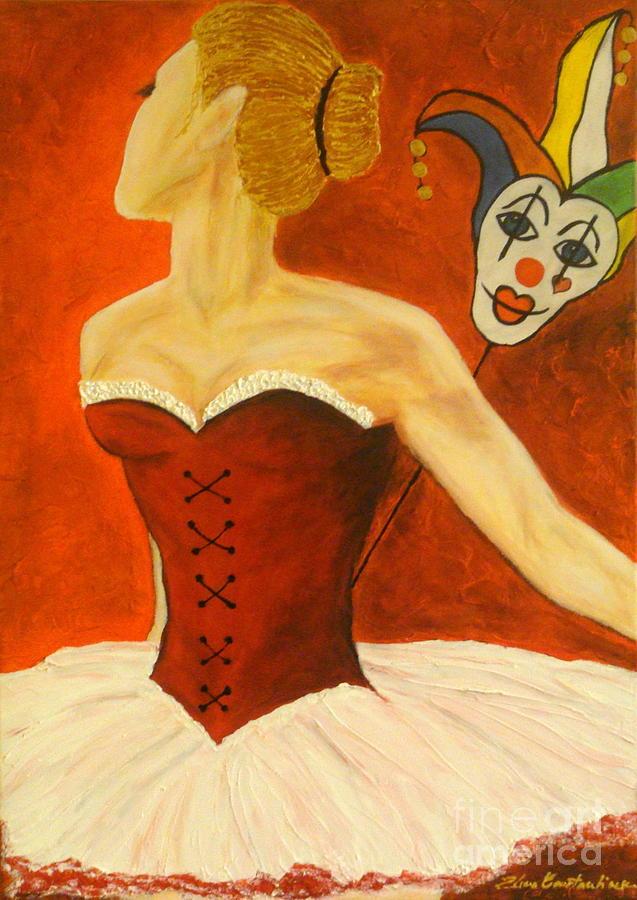 Cabaret Painting - Cabaret Ballerina by Elena  Constantinescu