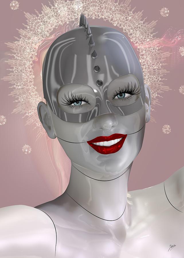 Robotics Digital Art - Cabaret of the spiritual robot by Quim Abella