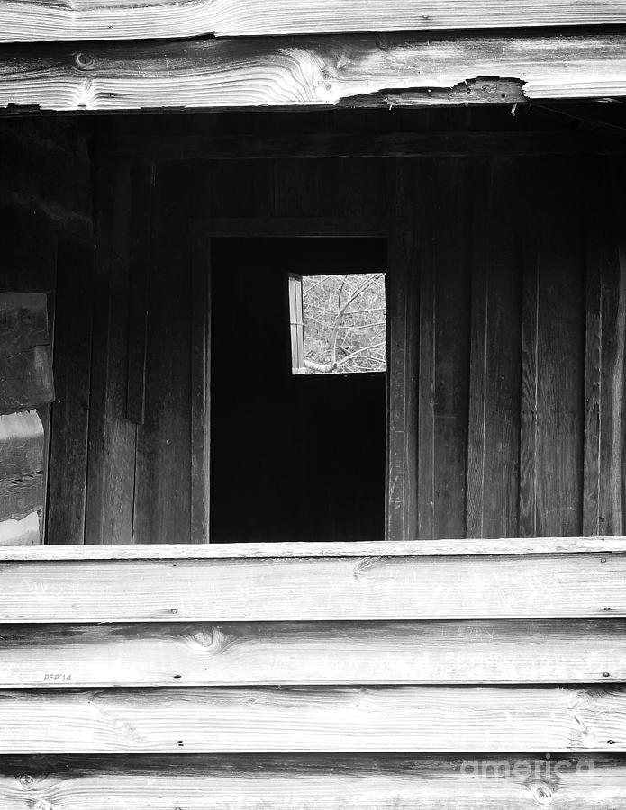 Black And White Photography Photograph - Cabin At Cades Cove by Phil Perkins