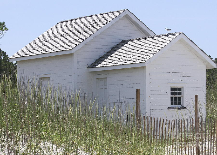 Obx Photograph - Cabin At Cape Lookout 2 by Cathy Lindsey