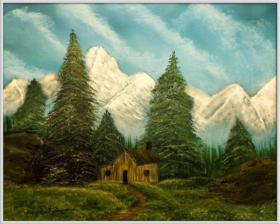 Cabin Painting - Cabin Getaway by Joyce Krenson