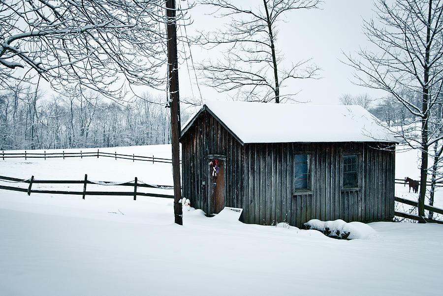 Cabin Photograph - Cabin In Snow by Nickaleen Neff