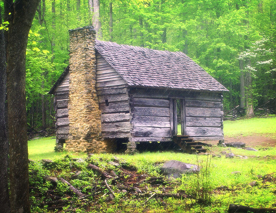 Old Cabin Photograph - Cabin In The Smokies by Marty Koch