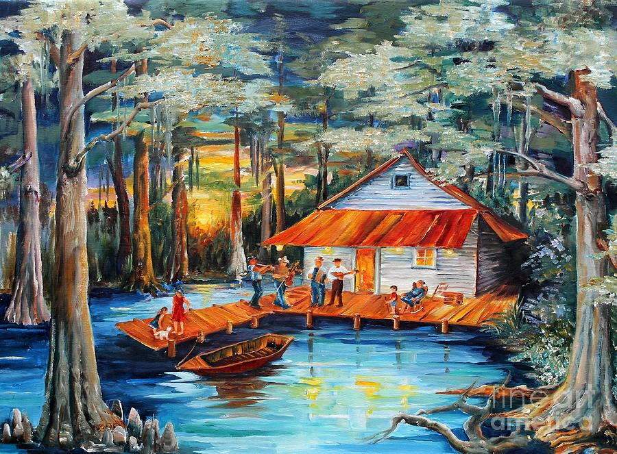 Cabin In The Swamp Painting