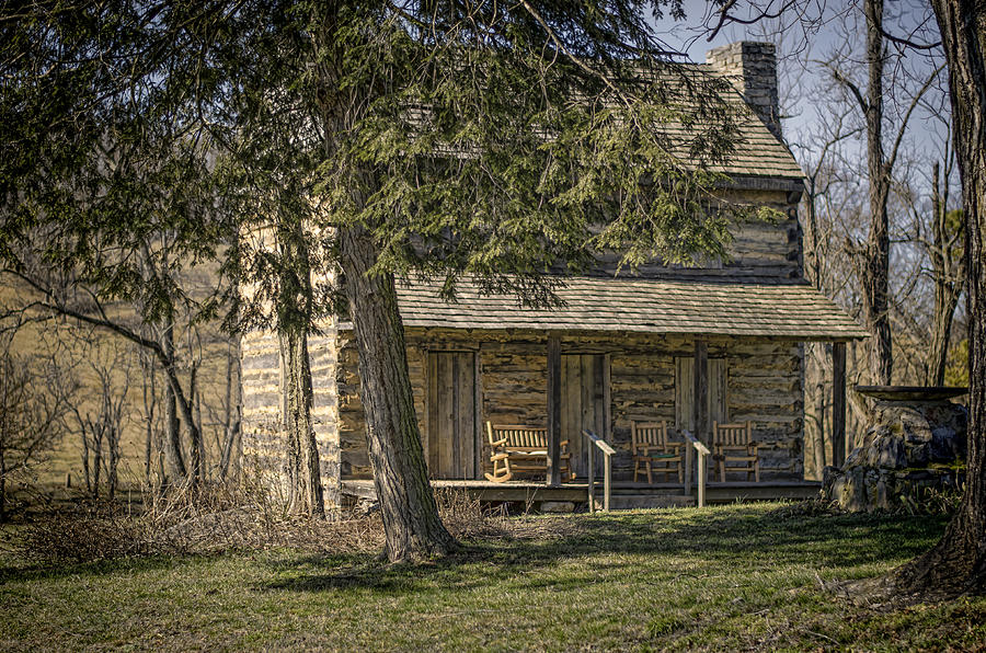 Log Photograph - Cabin In The Wood by Heather Applegate