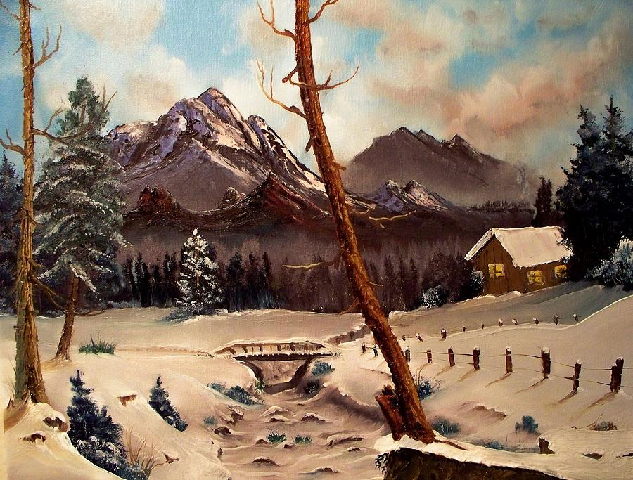 Landscape Painting - Cabin In The Woods by Patrick Trotter