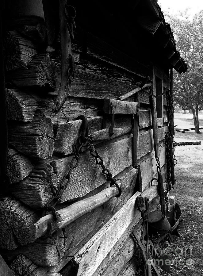 Log Cabins Photograph - Cabin Wall II by Julie Dant