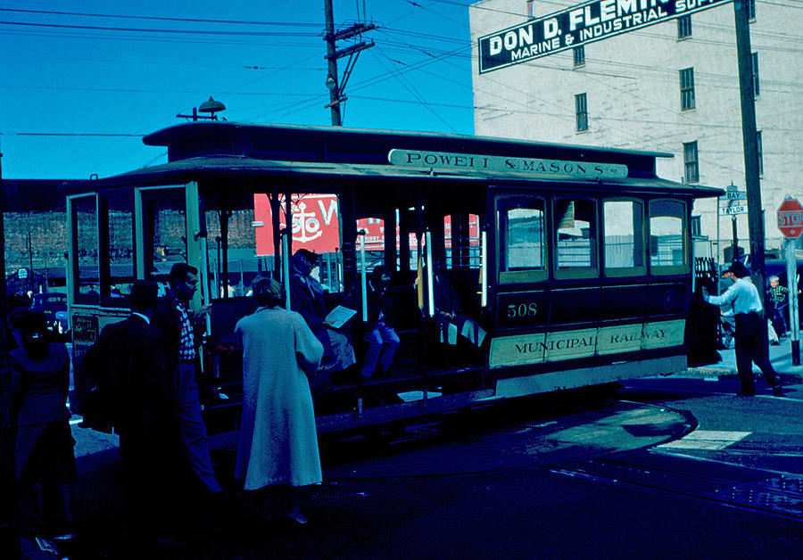 Cable Car Photograph - Cable Car 1955 by Cumberland Warden