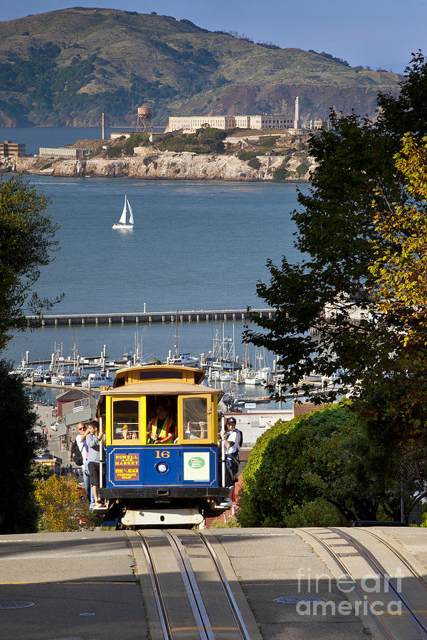 Cable Photograph - Cable Car In San Francisco by Brian Jannsen