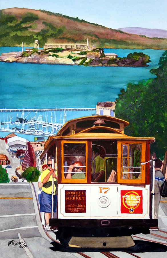 San Francisco Painting - Cable Car No. 17 by Mike Robles