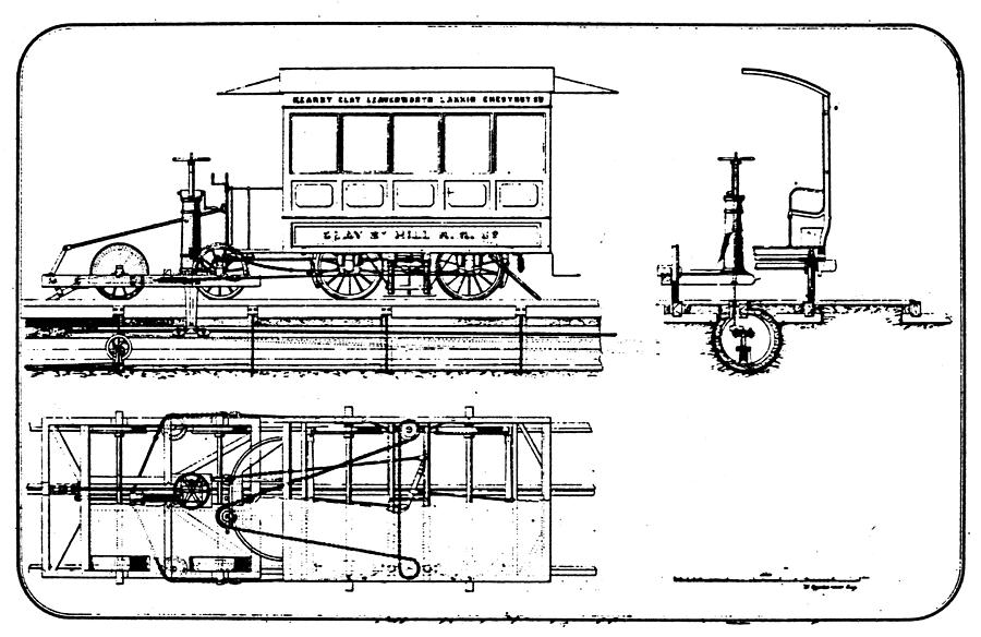 1873 Drawing - Cable Car Patent, 1873 by Granger