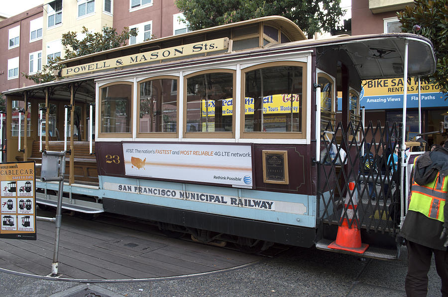 Photograph Photograph - Cable Car Turn-around At Fishermans Wharf by Christopher Winkler