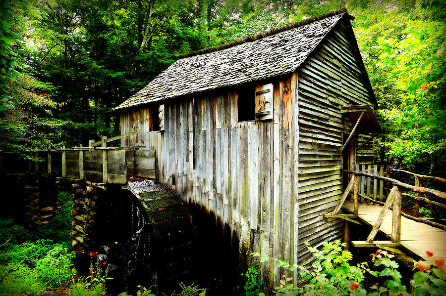 Cades Cove Photograph - Cable Mill - Cades Cove by Stephen Stookey