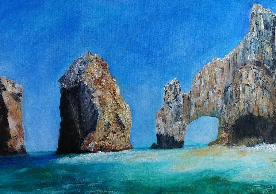 Ocean Painting - Cabo San Lucas by Anais DelaVega