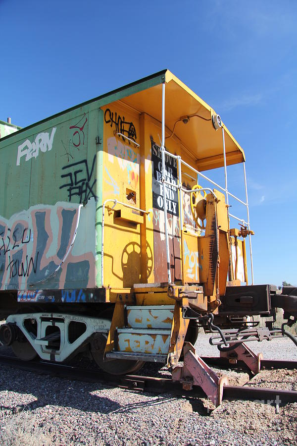 Caboose Photograph - Caboose by Diane Greco-Lesser