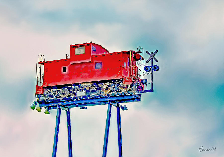 Caboose In The Sky Photograph by Bonnie Willis
