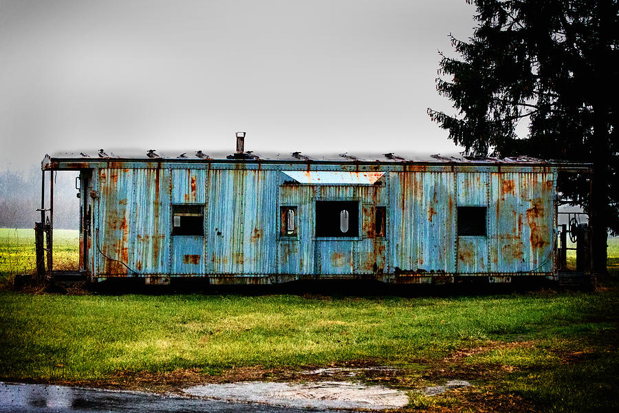 Caboose Photograph - Caboose On A Farm by Bill Swartwout Fine Art Photography