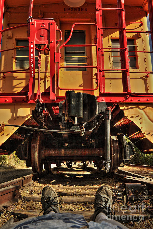 Caboose Photograph - Caboose On The Loose by James Eddy