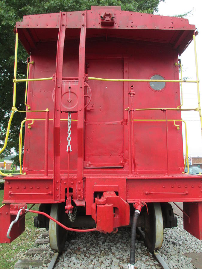 Caboose Photograph - Caboose by Randall Weidner