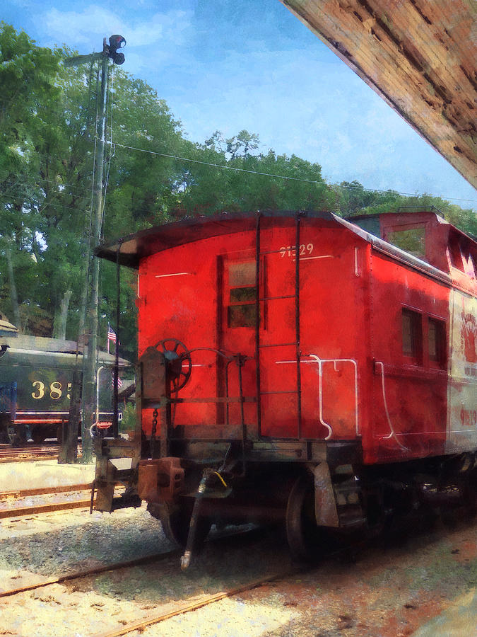 Train Photograph - Caboose by Susan Savad