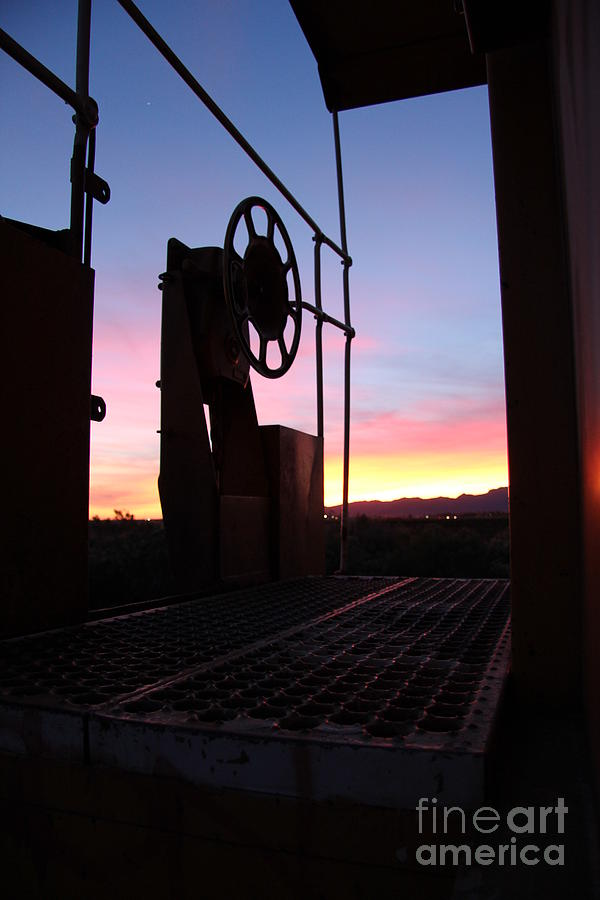 Caboose Photograph - Caboose Waiting Til Dawn by Diane Greco-Lesser