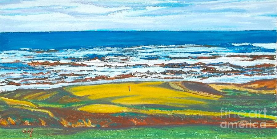 Golf Painting - Cabot Links # 14 by Frank Giordano