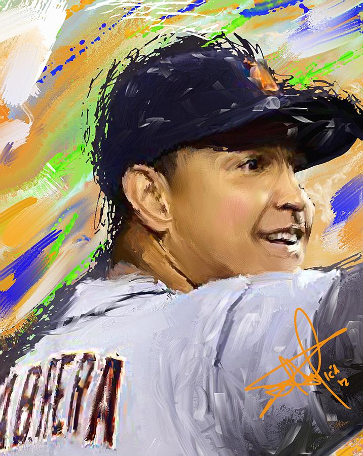 Baseball Painting - Cabrera Wins Triple Crown by Donald Pavlica