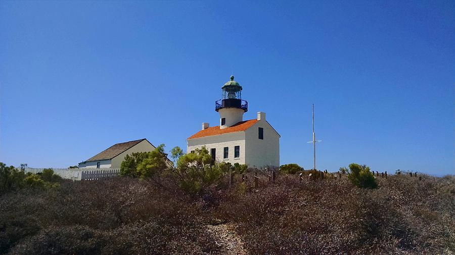Lighthouse Photograph - Cabrillo Lighthouse by Judy  Waller