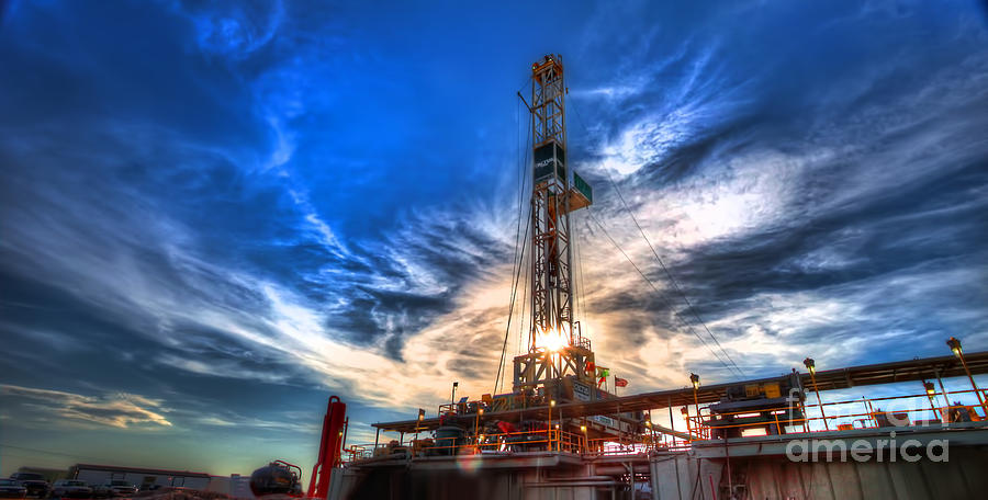 Oil Rig Photograph - Cac001-8 by Cooper Ross