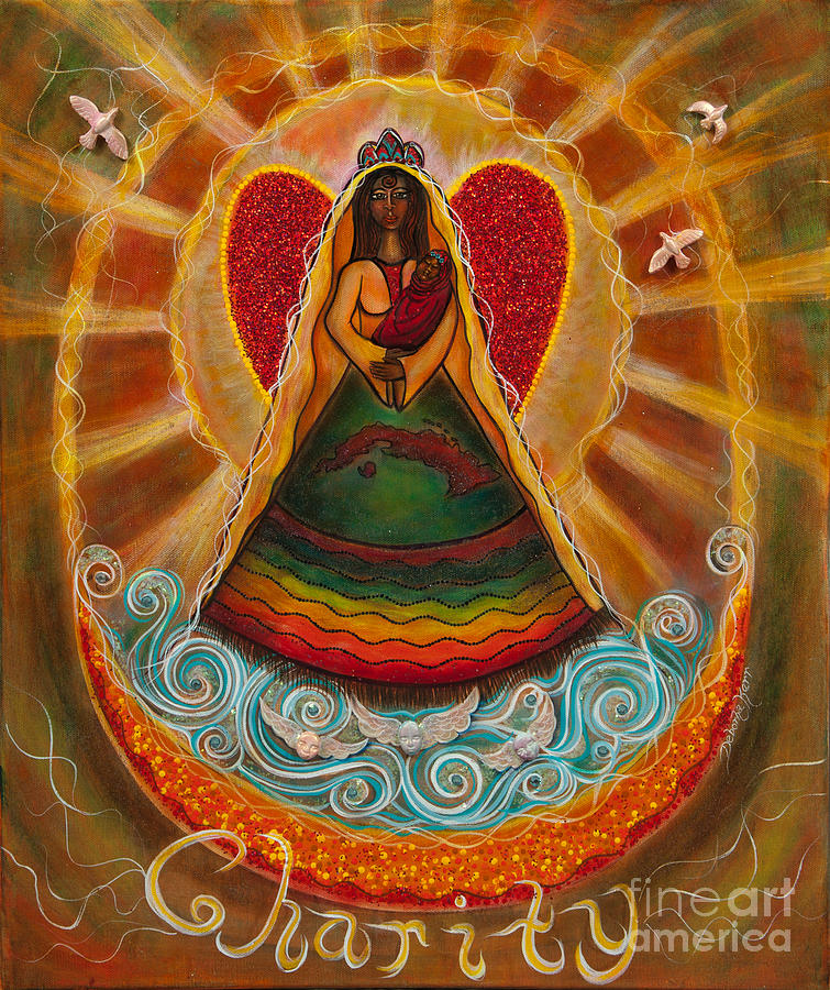 Madonna Painting Painting - Cachita Madonna by Deborha Kerr