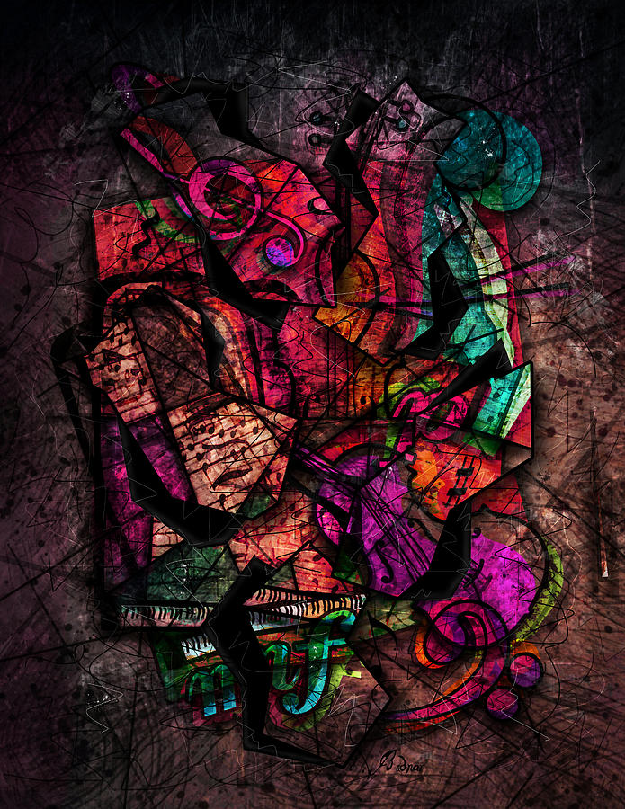 Music Digital Art - Cacophony In Z Minor by Gary Bodnar