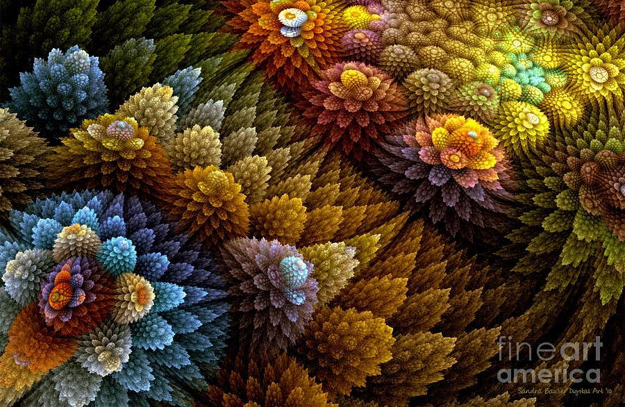 Digital Digital Art - Cactus Garden by Sandra Bauser Digital Art