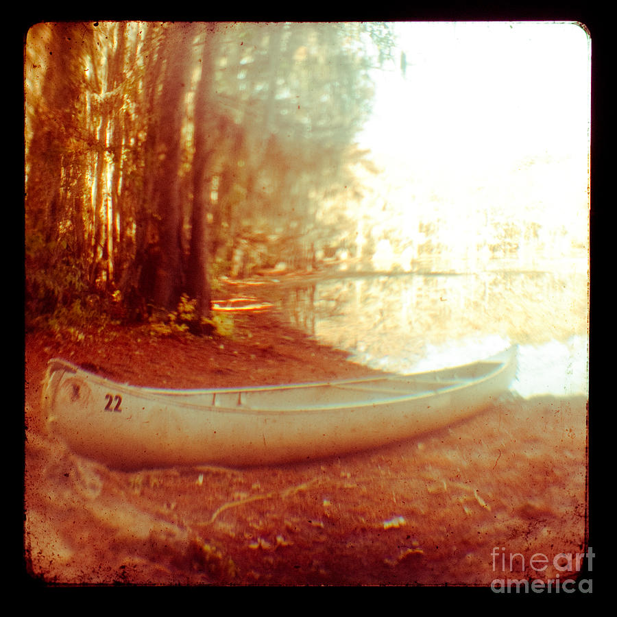 Canoe Photograph - Caddo Canoe by Sonja Quintero