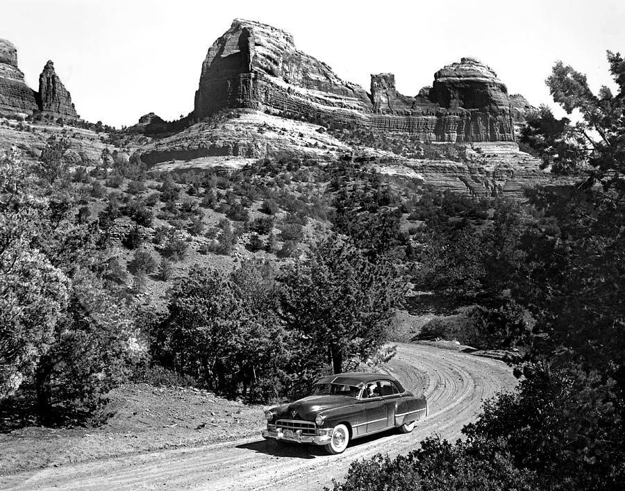 Arizona Photograph - Caddy on Schnebly by Bob Bradshaw