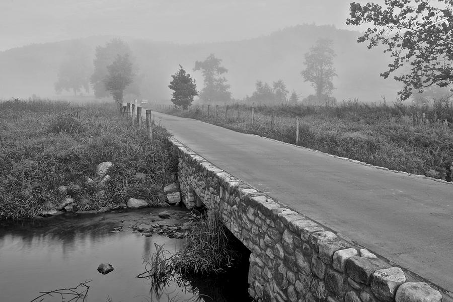 Cades Photograph - Cades Cove Black And White by Frozen in Time Fine Art Photography