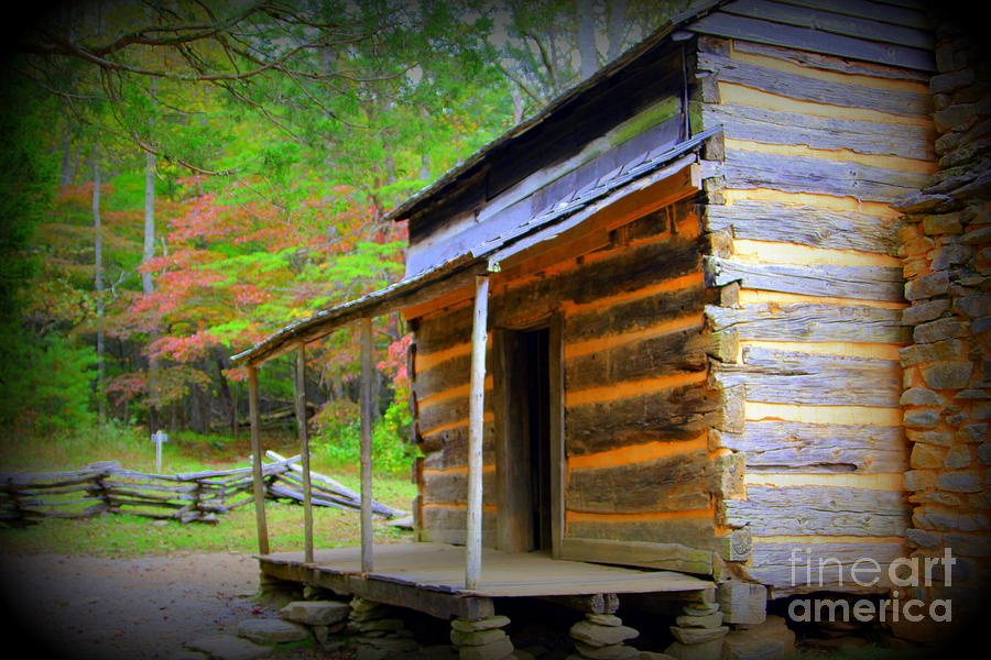 Cades Cove Cabin by Cynthia Mask