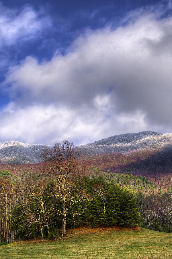 Appalachia Photograph - Cades Cove First Dusting Of Snow II by Debra and Dave Vanderlaan