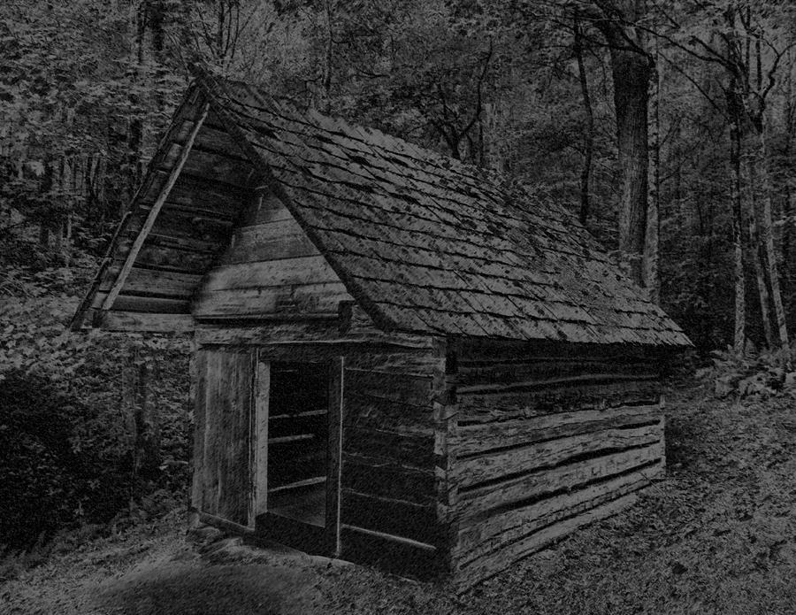 Cades Cove Digital Art - Cades Cove Shed by Gary Rieks