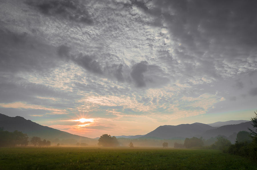 Landscape Photograph - Cades Cove Sunrise by William Shackelford